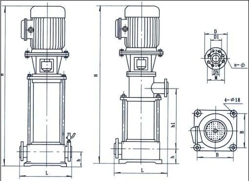 【gdl 多级立式管道泵】结构图